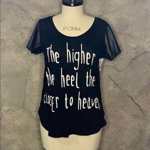 Higher the heel closer to heaven t-shirt